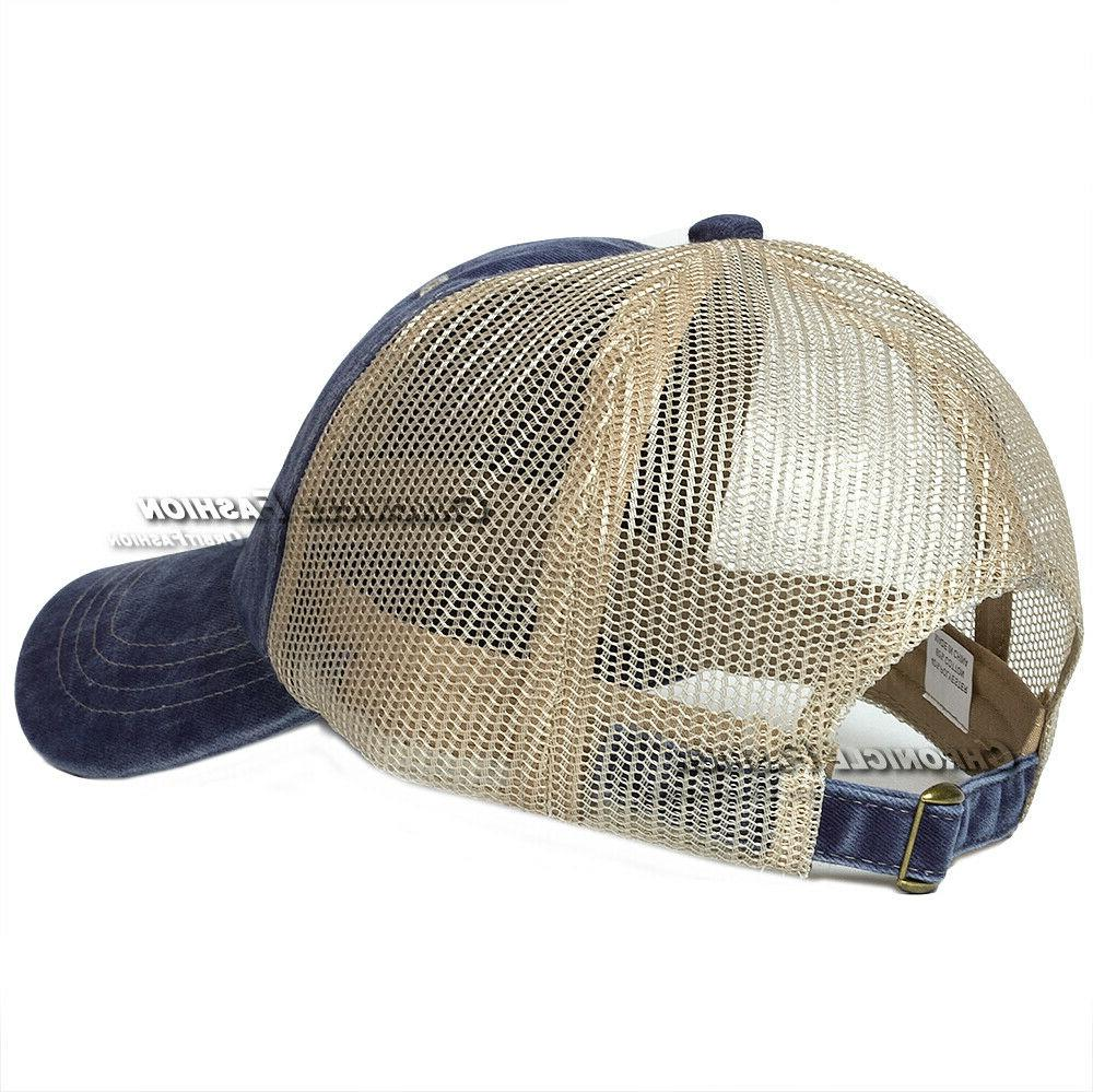 Washed Cotton Hat Cap Style Plain Dad