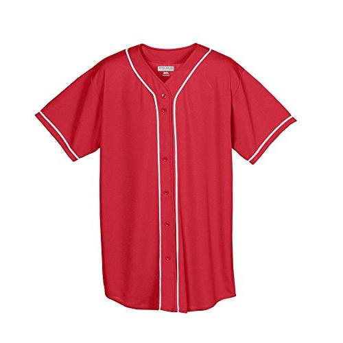 wicking mesh button front baseball