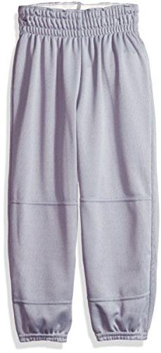 Wilson Youth Basic Classic Fit Baseball Pant, Grey, Small