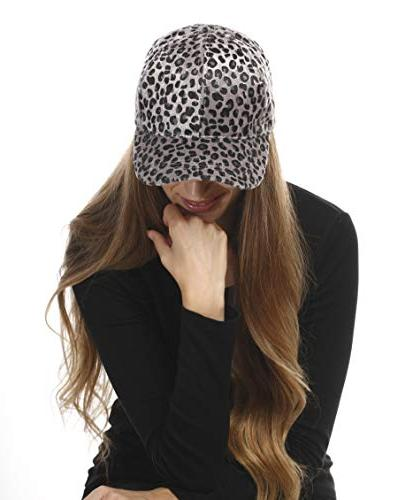 Me Plus Women Pattern Hair Feel Baseball Cap Hat