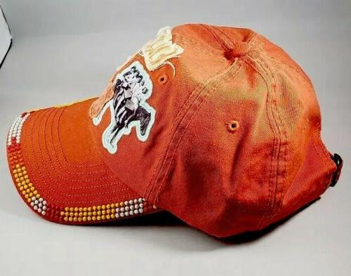 Women's Cap, Orange, Western,