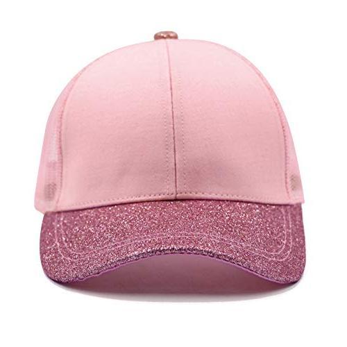 Lvaiz Hat Cap HighBuns Trucker Ponycaps for Girls