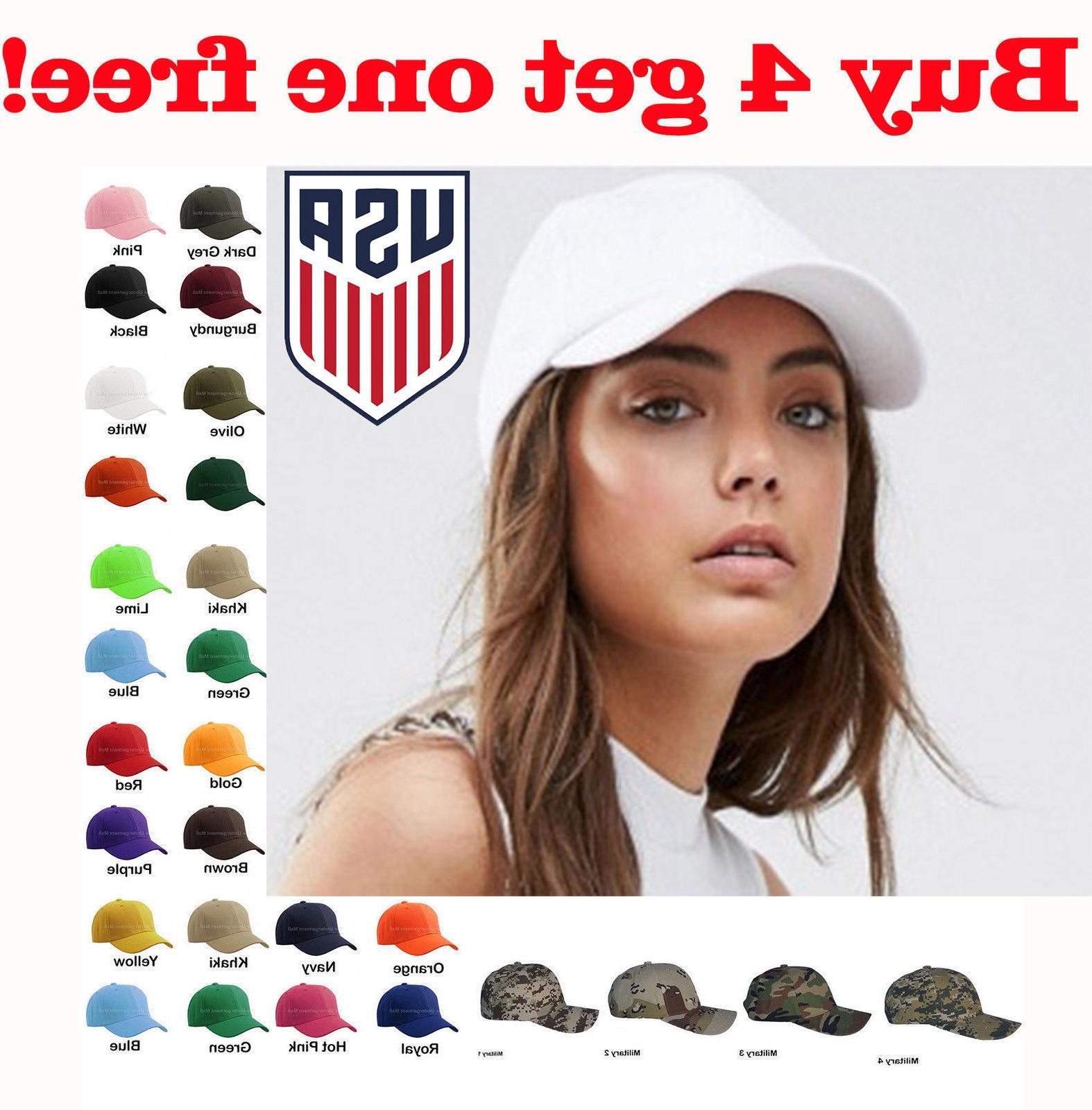 womens plain baseball cap adjustable solid hat