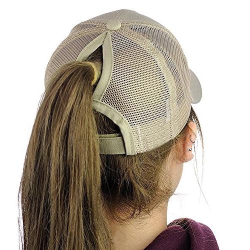 Womens Messy High Buns Baseball Visor Hat Adjustable