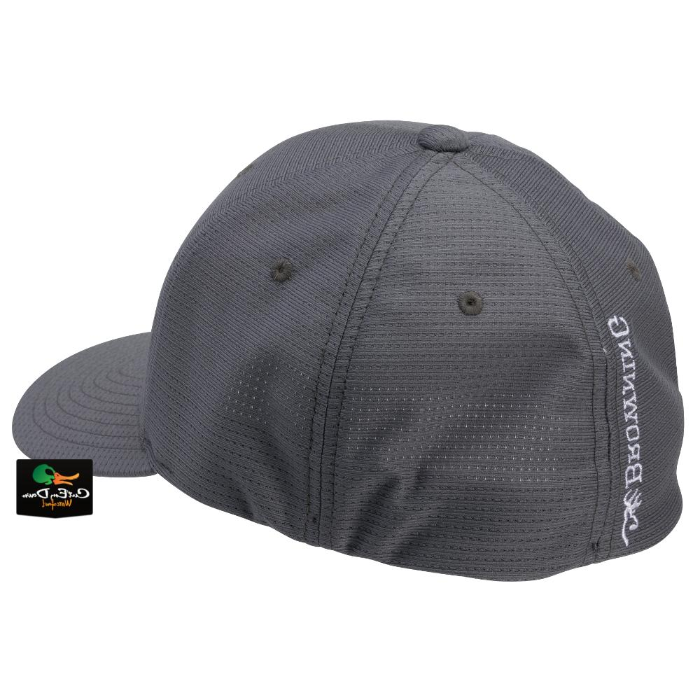 NEW BROWNING FIT CAP BUCKMARK LOGO GRAY SM/MD