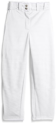 Wilson Youth Classic Relaxed Fit Piped Baseball Pant, White/