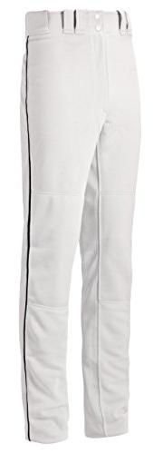 Mizuno Youth Select Pro Piped G2 Pants, White/Black, Medium