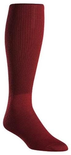 Twin City Acrylic Baseball Tube Sock, Maroon, Large