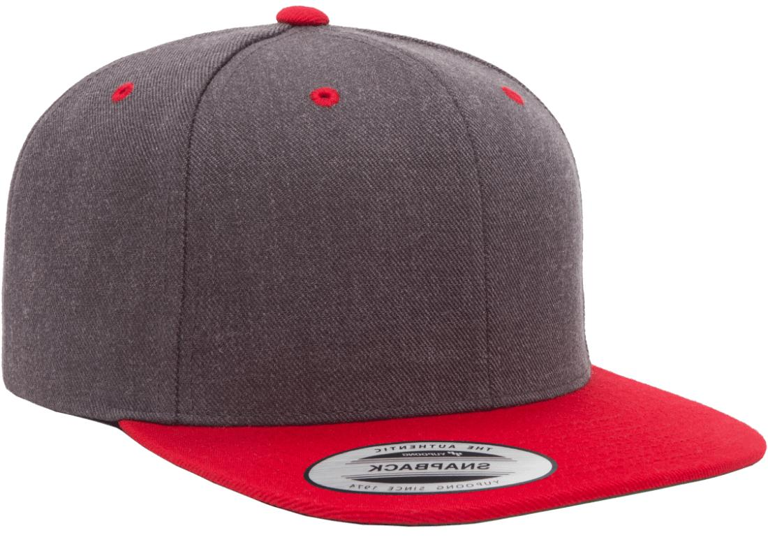 Yupoong Snapback Cap Plain Back Hat 6089 6089MC