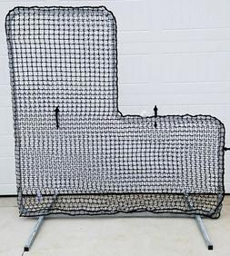 L-Screen 7' x 7' Professional Baseball Safety Frame & 90Ply