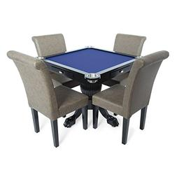 BBO Poker Levity Game and Poker Table for 4 Players with Blu