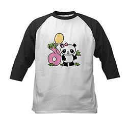CafePress - Lil' Panda Girl 6th Birthday Kids Baseball Jerse