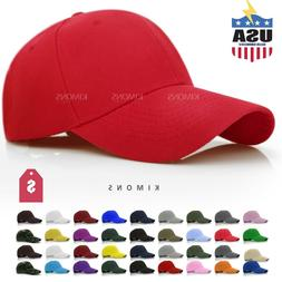 Loop Plain Baseball Cap Solid Color Blank Curved Visor Hat A