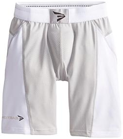 Easton Boys' M7 Sliding Shorts, White, Youth Medium