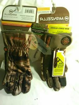 Manzella Bowhunter Gloves Camo RealTree Max Men's M,L,XL