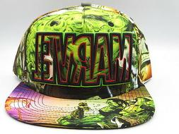 MARVEL HULK Green Color Snapback Hat Hulk Avengers Cap Hat