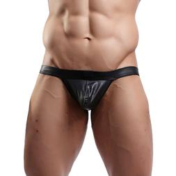 Men <font><b>Jock</b></font> Strap Underpants Stretch PU Hip