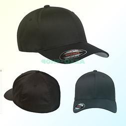 Flexfit Men's Athletic Baseball Fitted Cap Black Small/Mediu