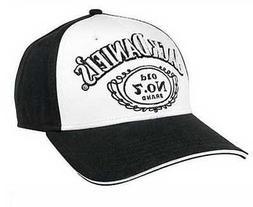 Jack Daniels Men's Baseball Cap Black & White Hat JD77-93