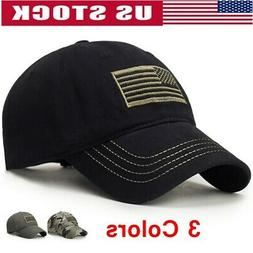 Men's Baseball Cap Tactical Army Cotton Military Dad Hat USA