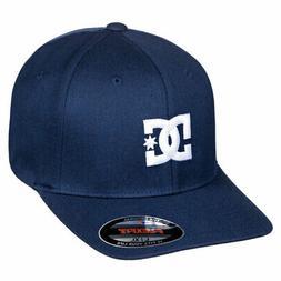 DC Shoes Men's Cap Sta4 2 Flexfit Hat Black Iris  Headwear B