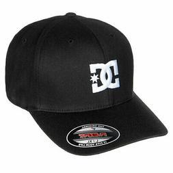 DC Shoes Men's Cap Star 2 Flexfit Hat Black Baseball Cap Hea