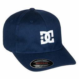 DC Shoes Men's Cap Star 2 Flexfit Hat Navy Blue Headwear Bas