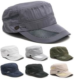 Men's Classic Summer Army Hat Military Cadet Patrol Style Br