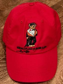 POLO RALPH LAUREN Men's Dive Bear Cotton Chino Baseball Cap