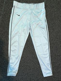 Men's Nike Gray Black Piped Baseball Pants - Size Large