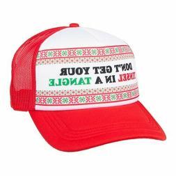 men s holiday novelty baseball cap nwt
