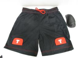 Tron Men`s Loose Fit Ice-Hockey Mesh Jock Shorts with Cup