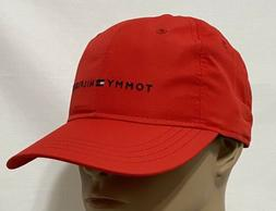 Tommy Hilfiger Men's Polyester  Baseball Cap  Red with Small