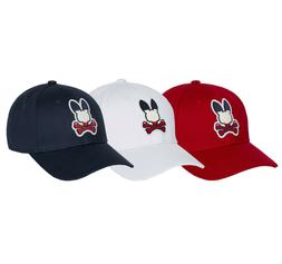 Psycho Bunny Men's Sports Baseball Cap Embroidered Logo Cott