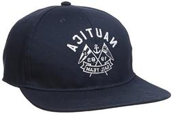 Nautica Men's Stretch Signature Logo Cap Hat, Navy, One Size