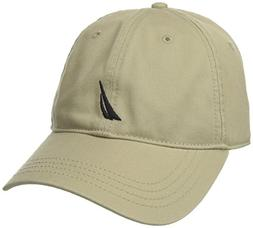 Nautica Men's Twill 6-Panel Cap, Khaki, One Size