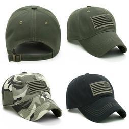 Men's US Flag Army Military Hats Baseball Snapback Sports Ca
