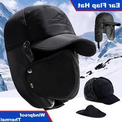 Men Winter Ear Flap Trapper Trooper Bomber Warm Hat Ushanka