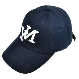 Men Women NY Baseball Cap Cotton Vintage Casual Golf Hat Sol