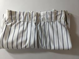 WILSON Mens Adult Baseball Pants White w/ Black Pinstripes A