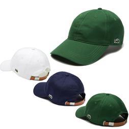 Mens Lacoste Cotton Cap Adjustable Strap Baseball Cap Lacost