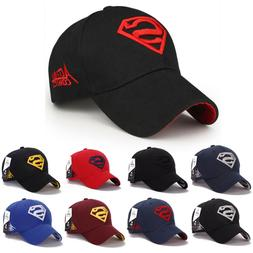 Plain Baseball Caps Mens Superman Cap Unisex Peak Caps Summe
