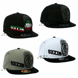 Mexican Mexico Hat Federal Logo Embroidered Snapback Flat Bi