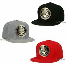 Mexican Mexico Hat Federal Metallic Gold Logo Snapback Flat
