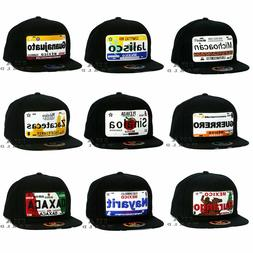 MEXICAN Hat MEXICO States License Plate Snapback Flat Bill C