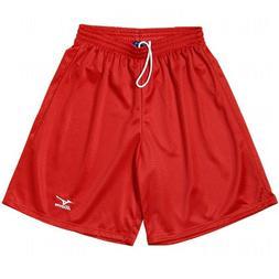 Mizuno Mens Mesh Pocketed Baseball Short XS Red