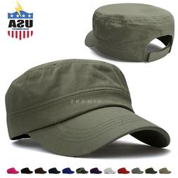 Military Hat Army Cadet Patrol Castro Cap Men Women Golf Bas