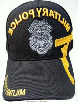 MILITARY POLICE VETERAN Cap/Hat w/Embroidered Badge Black Mi
