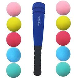 Aoneky Min Foam Bat with Multi Balls for Toddler - Indoor So
