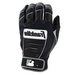 Franklin Sports MLB CFX Pro Batting Gloves, Black/Black , Ad